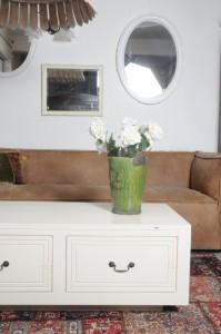 שולחן קפה לבן