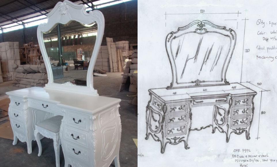 שולחן טואלט בהתאמה אישית
