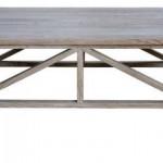שולחן סלון מעץ בגימור טבעי