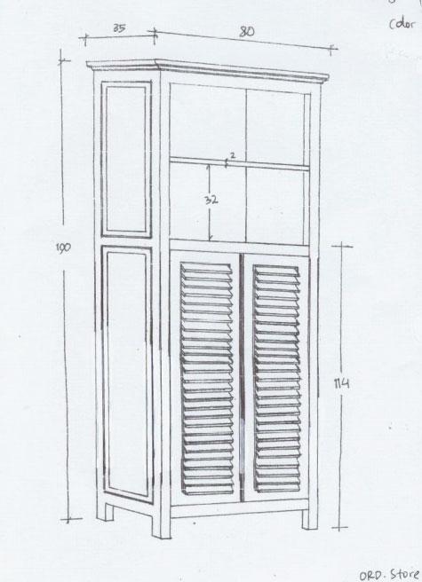 ספריה כפרית עם דלתות תריס
