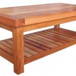 שולחן קפה כפרי מעץ מלא