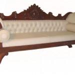 ספה עם ריפוד קטיפה מוזהב