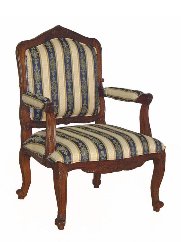 כורסא מרופדת מעץ מהגוני