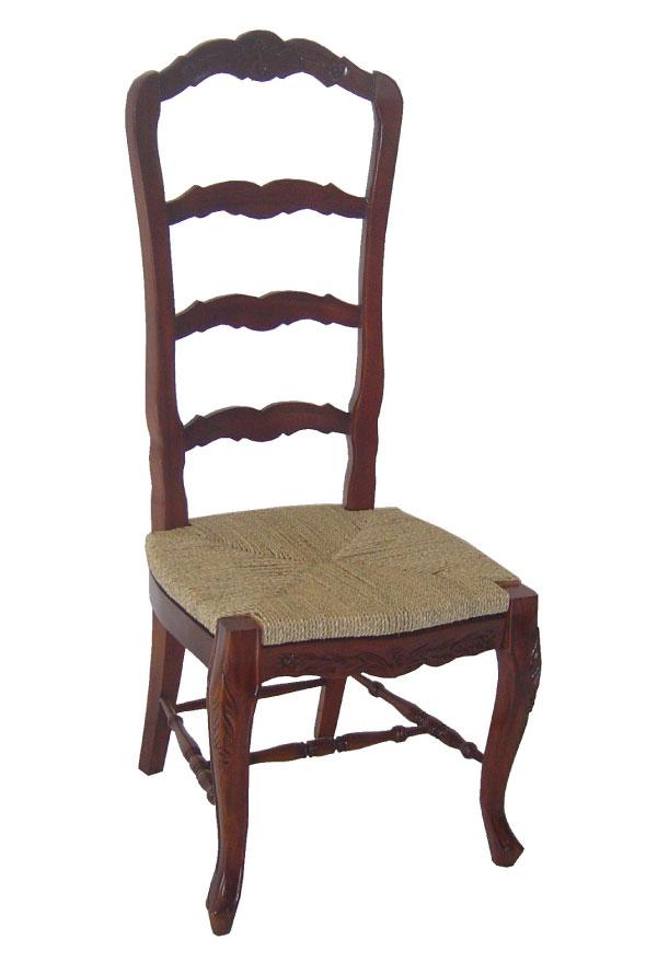 כסא גב גבוה עם מושב קלוע