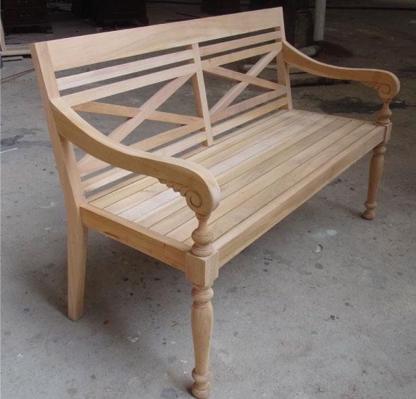 ספסל מעץ מלא בצביעת ווש