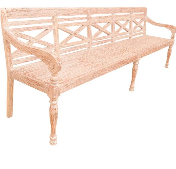 ספסל מהגוני ארבעה מושבים