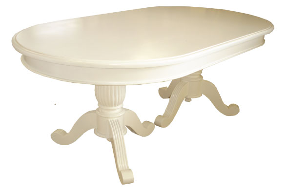 שולחן אוכל לבן
