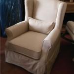 כורסא מעוצבבת בסגנון קלאסי