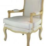 כורסא קלאסית עם ריפוד לבן