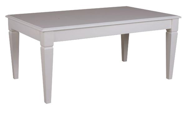 שולחן אוכל קלאסי מעץ בצבע לבן