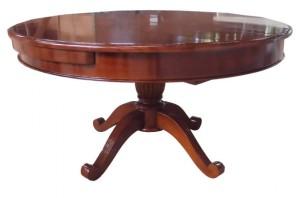 שולחן אוכל עגול עם הרחבה