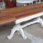 שולחן אוכל מלבני מעץ מהגוני