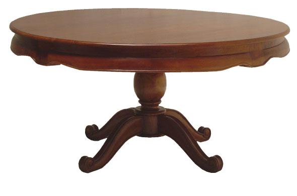 שולחן אוכל עגול קלאסי מעץ