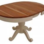 שולחן אוכל עגול עם פלטת עץ טבעי