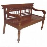 ספסל עץ דו מושבי