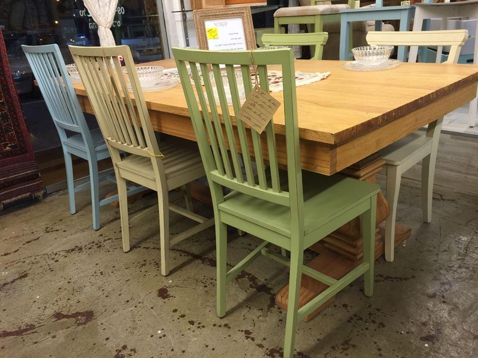 כיסאות לפינת אוכל מעץ מלא