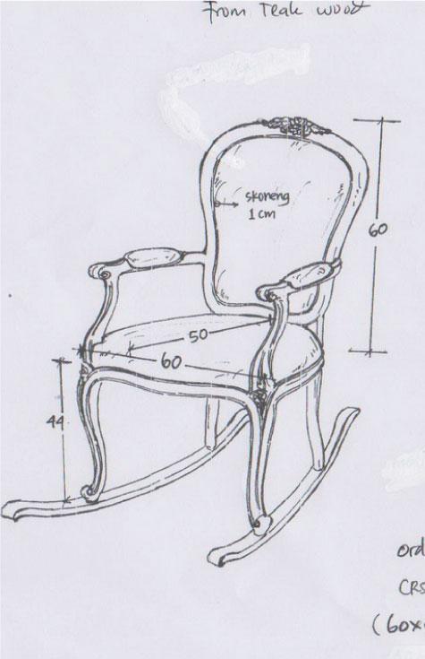 כסא נדנדה מעוצב בסגנון פרובנס כפרי