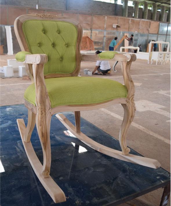 סנסציוני כסא נדנדה מעוצב בסגנון פרובנס כפרי | רהיטים בהתאמה אישית IJ-88