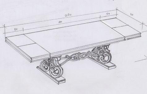 שולחן אוכל מעץ מלא עם הגדלות