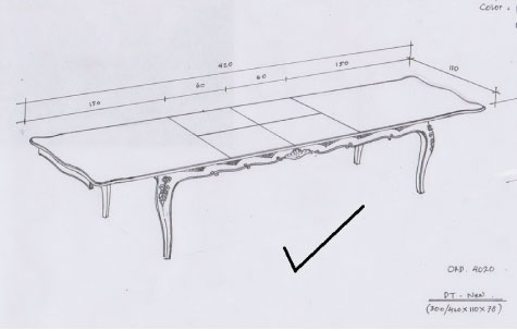 שולחן אוכל נפתח מעץ מלא בסגנון אנגלי
