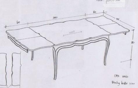 שולחן אוכל אנגלי נפתח מעץ