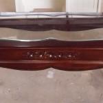 שולחן סלון קלאסי מעץ וזכוכית