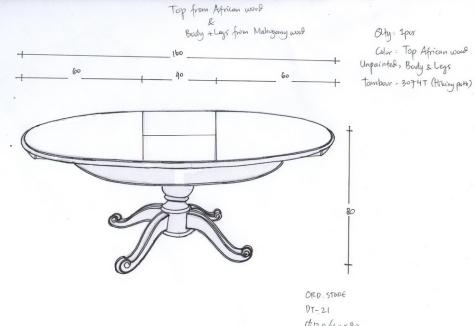 תכנון שולחן אוכל נפתח