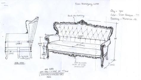 ספה בסגנון עתיק