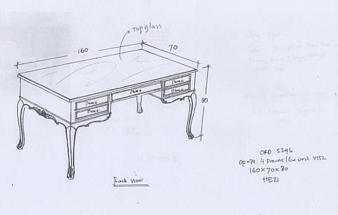 שולחן כתיבה בסגנון עתיק
