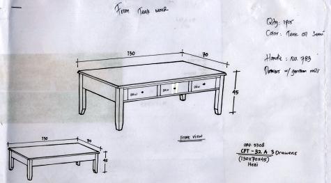 שולחן כפרי לסלון
