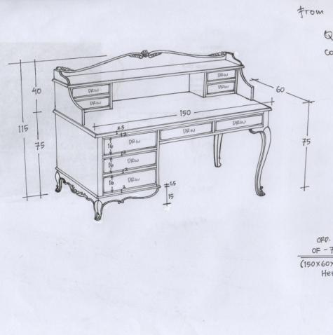 שולחן כתיבה בסגנון פרובנס