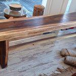 """ספסל מעץ טיק גושני במידות 250-30-45 ס""""מ: מחיר 1600 במקום 3200"""
